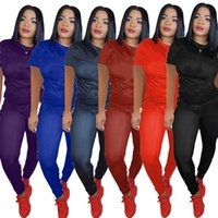 Summer women outfits 2 piece Designer Tracksuits jogging suits short sleeve T-shirt Leggings Plus size 3XL sweatsuits Casual sportswear 2XL Gym Clothing 3491