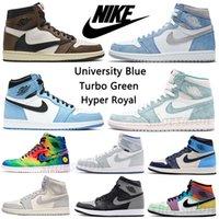 Hyper Royal University Blue High og 1 1s رجالي أحذية كرة السلة توربو الأخضر unc الفضة تو الأسود القط ولدت المال النقي نجم البحر النار الرياضة الحمراء النساء أحذية رياضية المدربين #fb
