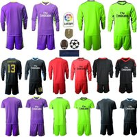 New 2020 2021 Men Soccers Jerseys long sleeves kit soccer shirt 20 21 1 NAVAS 13 COURTOIS Goalkeeper adult kit Football uniforms