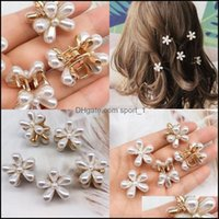 & Barrettes Jewelrydaisy Pearl Hair Clips Mini Elegant Metal Plastic Side Clip Claws Women Girl White Make Up Hairpin Jewelry Aessories 0 75