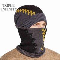 Triple Infinity Fashion Nouveau Beani FF Doublé Heavy Heavy Hiver Chapeaux Hommes Coupe-vent Chapeau Homme Homme Homme Haute Qualité