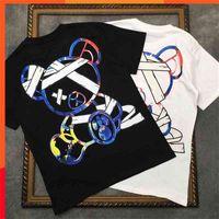 T Gömlek Marcelo Barrett Erkek Kısa Kollu Karikatür Ayı Kadın Gömlek Bağladı | Streetwear 2191001657