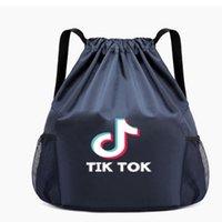 Tiktok cartas impressas unisex bolso pacote de ombro cordão sacos tiktok moda viagem mochila grande capacidade mulheres homens de fitness homens g4t6gf9
