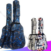 600D Paño de OXFORD resistente al agua Doble Strap Strap Strap Bag Guitar Funda de guitarra para 40/41 pulgadas Acoustic Classic Guitar Folk C0407