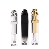 4.5ML Upscale Lip Gloss Tubes Square Empty Lipgloss Packing Bottles Lips Balm Containers With Screw Cap Gold and Silver NK65