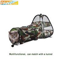 Милый кот Pet Play Tunnel Mat Mat Mat Camouflage забавный длинный котенок портативный палатка игрушка складные игрушки