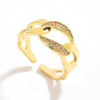 D08 Simple Electroplating Rings with Adjustable Opening Personalized Design Ring Gold Silver 2Colors for Men Women