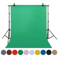 التصوير 1.6x4 / 3/2 متر صورة خلفية خلفية الشاشة الخضراء Chroma مفتاح للصور استوديو خلفية حامل غير المنسوجة 10 ألوان Q0527