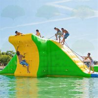 9x7x3m Bouncy Castle Water Slides sea Park Obstacle Inflatable Floating Climbing Action Tower for adult or child