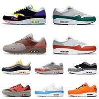 nike air max 1 shoes Airmax Yastıklar 1 87 Koşu Ayakkabıları Erkek Kadın OG Evergreen 2021 En Kaliteli Martı Sunrise Taupe Haze Siyah Şematik Eğitmenler Sneakers 36-45
