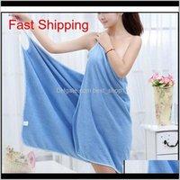 Robe Home Textile Towelwomen Robes Bath Wearable Towel Dress Girls Women Womens Lady Fast Drying Beach Spa Magical N Qylycr Rkbmz Eihf8