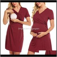 Dresses Clothing Supplies Baby, Kids & Maternityfashion Mother Nursing Summer Short Sleeve Mini Maternity Dress Slim Fit Women Solid Color Ca