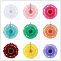Decorative Wedding Party Paper Crafts 8 10 12 Inch Paper Fans DIY Hanging Tissue Paper Flower Wedding Birthday Party Festival Decor VTKY2370