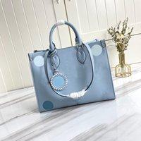 2021 moda donna tote bag stile classico in stile Top lady borse gradiente lettera stampa design grande capacità 34 cm borsa borse di alta qualità Z-M45718