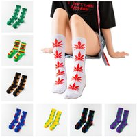 36 الألوان القيقب ورقة الطباعة الجوارب الرجال النساء الرياضة القطن طاقم الجورب النعال عيد الميلاد الحياة منتصف العجل الجوارب الخريف حذاء رياضة جوارب 2021