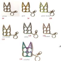 Multi Function Mental Cat Car Keychains Bottle Opener Creative Wrench Broken Window Key Chain Fashion Handbag Keychain EWB8833