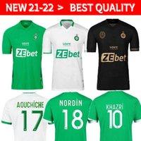 2021 2022 Maillot de pé como santos-étienne futebol jersey homem kit kit youssouf 21 22 st etienne khazri boudebouz aholou asse futebol camisa