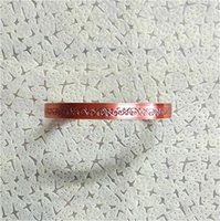 Bangle Magnetic Copper Simple Printing Bracelet For Men And Women, Rehabilitation Health Care Jewelry