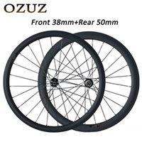 Roues de vélo 23mm de large de largeur 38mm avant 50mm arrière 700c roues de carbone de carbone crischère tubulaire mat ou roue brillante Mac Aero 494 cnspoke