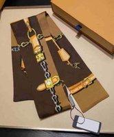 Kadınlar için Trendy Tasarımcı Eşarplar Kare Atkılar Boyun Cravat Bantlar Süper Yumuşak Üst İpek Kurdela Saç Bantları Bağları 120 * 8 cm Çok Seçenek