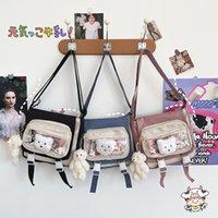 Bagslight Luxurys Bonito Bagscartoon Bear Luxurys Schoolbag Transparente Gatinho Menina Coração Grande Capacidade Estudante Saco Mensageiro do Carteiro