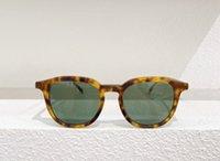 باكس كلاسيك هافانا البلاستيك جولة نظارات خضراء عدسة 816 نظارات الأزياء للرجال النساء سونينبريل gafa de sol uv400 حماية نظارات مع القضية