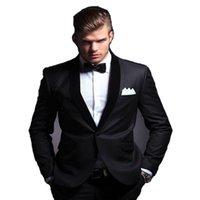 Custom Mens Ternos Casamento Branco para Homens Shawl Lapel Groomsmen Terno 1 Buttont Uxedos Fot (Jacket + Calças + Laço) Homens Blazers