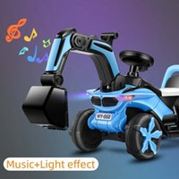 Large Children Digger Model Excavator Toy with Music&Light Ride On Toys Kids Toddler Electronic Engineering Truck Children Gifts