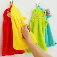 Serviette à main suspendue cuisine salle de bain couverte tissu doux épais essuie serviette coton vaisselle nettoyer des serviettes accessoires HWB8631