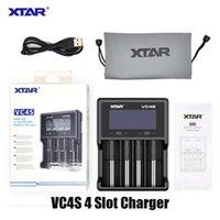 Otantik XTAR VC4S Pil Şarj Inteligent Mod 4 Yuvası Ile LCD Ekran Ile 18350 18550 18650 16650 26650 Li-Ion Piller 100% Orijinal