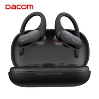 Dacom Athlete Tws 블루투스 이어 버드베이스 진정한 무선 스테레오 이어폰 스포츠 블루투스 헤드폰 이어폰 아이폰을위한 귀 훅 삼성