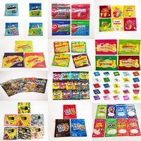 Em estoque pronto para enviar comestíveis comestíveis gummy doces sacos alimento embalagem gummies azedo 3,5g mylar saco trrlli trolli errlli oneup