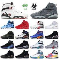 Top Jummman 8 8s Alternate Cool Gray Basketball Shoes Valentines Day Confetti South Beach Męskie Kobiety Snowflake Jorden Retro Trenerzy Sneakers