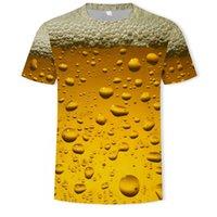 2021 Bira Su Damlası Şarap Cam Elemanı Erkekler T-Shirt Yaz 3D Baskı Rahat Streetwear Cosplay Kostüm T Gömlek Moda Harajuku Top Tees Unisex Giyim