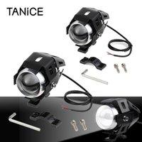 Lâmpadas Tanice 2 PCS U5 Farol de Motocicleta com Switch Motorbike LED Nevoeiro Luzes Bulbo Kit 12-80V para D22 mm Handle Bar