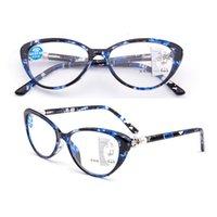 안티 블루 고양이의 눈 진행성 다각적 인 노 십대 안경
