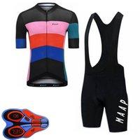 Maap Takım Bisiklet Bisiklet Kısa Kollu Jersey Önlüğü Şort Set 2021 Yaz Hızlı Kuru Erkek MTB Bisiklet Üniforma Yol Yarışı Kitleri Açık Sportwear S21043059