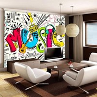 Dropship Custom 3D Abstract Musical Children's Room Graffiti Large Mural Cafe Restaurant Wall Papers Home Decor Kids Wallpaper Wallpapers