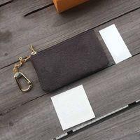 Ключ кошелек чехол M62650 Pochette CLES мода женские мужские брелок кредитной карты держатель монет кошелек роскошный дизайнеры мини-кошельки мешок кожаные сумки