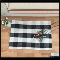 Badewanne Plaid Baumwolle Fußmat Tartan Bodenmatten Teppiche für Vordere Veranda Einstiegsweg Küche Badezimmer 60 * 90 cm WB2687 TG60N TPCAE