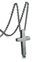 العتيقة الفضة بسيطة عادي المعلقات قلادة في الفولاذ المقاوم للصدأ، مجوهرات دين الرجال، قلادة الصلاة، هدية المجوهرات، 20 '' o سلسلة