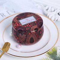 Tarco de vela perfumado Vacío de hojalatas redondas Can DIY Vela hecha a mano Alimentos de té caramelo Tableta Accesorios Caja de almacenamiento con tapa HWD6223