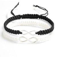 Bangle 2pcs Infinity Handmade Bracelet Set Friendship Love Couples Jewelry