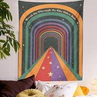 Portas do arco-íris da tapeçaria que pendura boémio ouija arte decoração home quarto tapete tapeçarias retrô