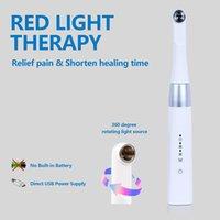 Hygiène orale Thérapie rouge Thérapie Double longueur d'onde 660nm 850nm et proches de LED infrarouges ont été prouvées Stimule la réparation des tissus faisceau puissant pour un problème de douleurs à froid