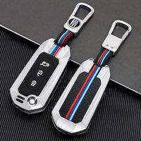 Alaşım Araba Anahtar Kılıf Kapak Ford Mondeo Focus Fiesta Kuga C-MAX S-MAX 3 Yedek Otomatik Düğmeler Koruyucu Anahtarlıklar