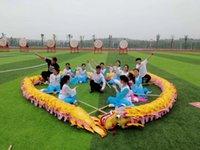 18m Storlek 3 # 10 Vuxen 9 Joint People Silk Chinese Dragon Dance Folk Festival Celebration Mascot Kostym