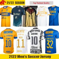 Liga MX 21 22 Tigres UANL Camisa de futebol NICO GIGNAC Club America Camisa de futebol GIOVANI OCHOA SANCHEZ HENRY Jersey
