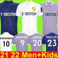 22 22 Leeds Soccer Jersey United 2021 2022 T Робертс Хернандес Харрисон Джеймс Бамфорд Рафинья Филлипс Родриго Футбольная футболка Мужчины Детские наборы Униформа в третьем