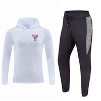 Faroe Islands national football team Autumn Winter Football Training Tracksuits Tight Outdoor Running Suits Custom Logo Men's Soccer Sportswear Sets
